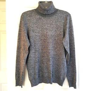 CALVIN KLEIN Heather Grey Long Sleeve Turtleneck Sweater ⭐Like New⭐